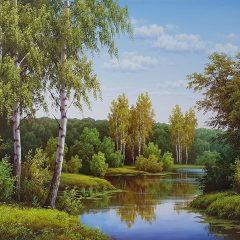 Картина озеро купить